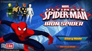 Ultimate Spiderman Iron Spider / Disney Xd / Marvel / For Children / Flash Online Gameplay Video
