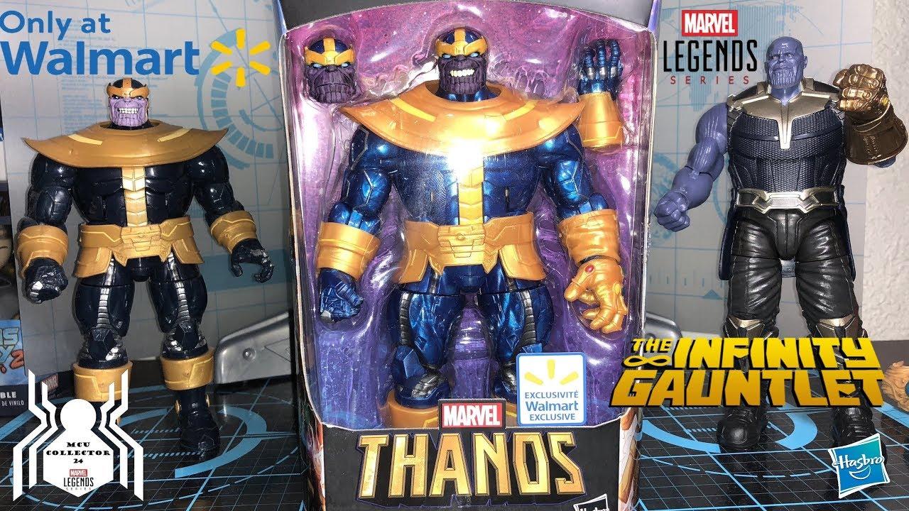 Marvel Legends THANOS WITH INFINITY GAUNTLET Walmart Exclusive BAF Repaint  - Comparison