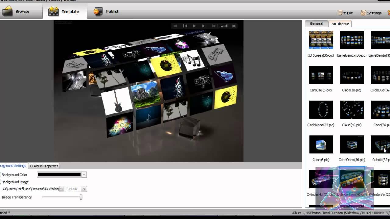 Crear presentaci n de fotos con audio en 3d con for Programa para crear habitaciones 3d