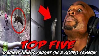 TOP 5 Scariest Things Caught On A GoPro Camera REACTION!