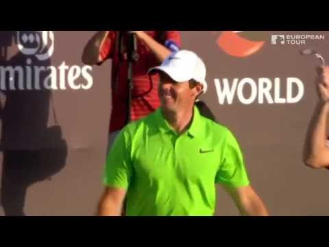 Rory McIlroy's walk-off bunker shot in Dubai