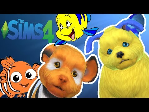 Nemo and Flounder Fish Puppies??? 🐟 🐶 | The SIms 4 Cats and Dogs Matchmaking |