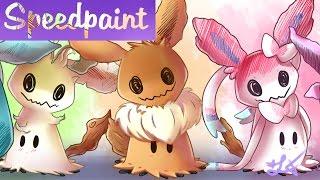 Speedpaint - Pokémon Mimikyu Eevee Evolution