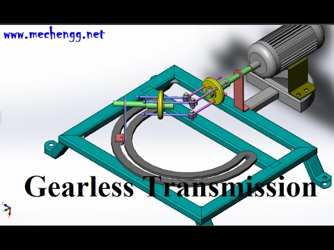 Gearless Power Transmission In Angular Positions Using Rods
