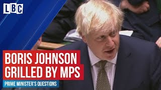 Boris Johnson v Jeremy Corbyn at PMQs | Prime Minister's Questions | LBC