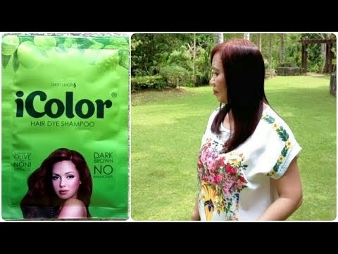 Icolor Hair Dye Shampoo Dark Brown Review Youtube