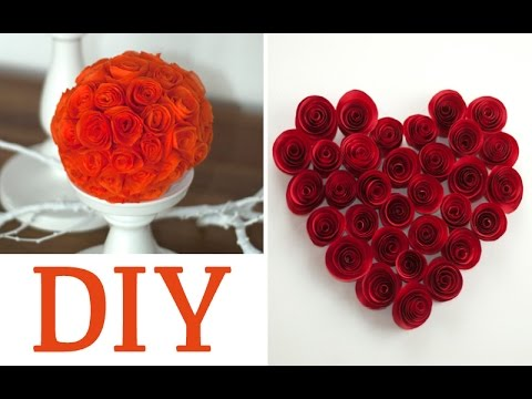 DIY: hübsche Rosen aus Servietten oder Papier | Deko Kitchen - YouTube