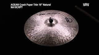 """Crash Paper Thin 18"""" Natural vidéo"""