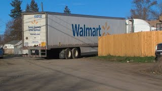 Driver in stolen Walmart truck leads police on chase