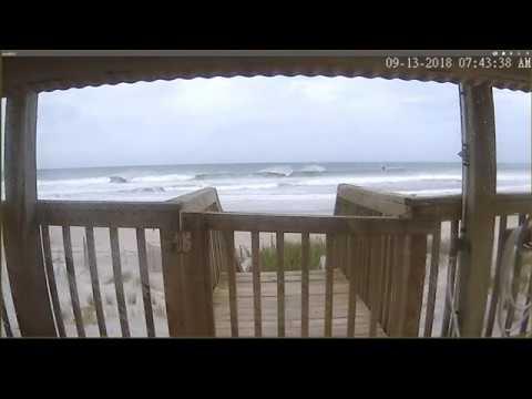 Hurricane Florence - North Topsail Beach NC  Live View