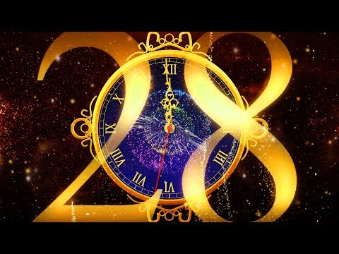 Happy New Year CLOCK 2019 ( v 684 ) Countdown Timer with Sound Effects + Voice 4K