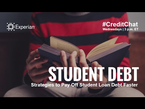 Ways to Pay Off Student Loan Debt Faster #CreditChat