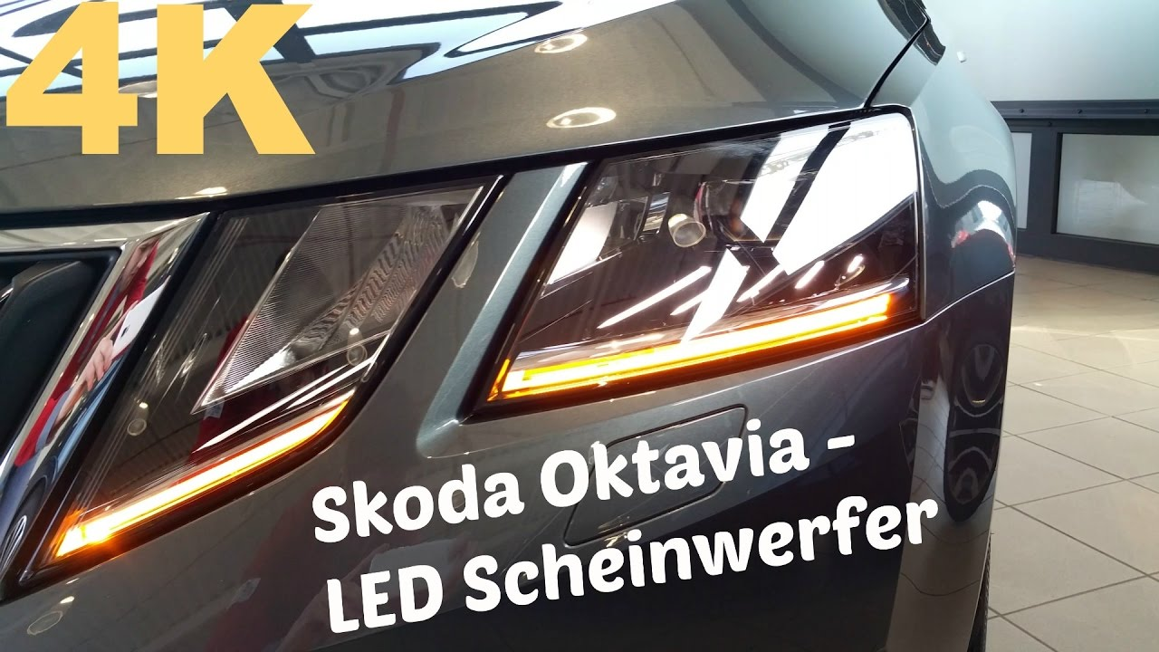2017 Skoda Oktavia Facelift - LED-Scheinwerfer [4K] - YouTube