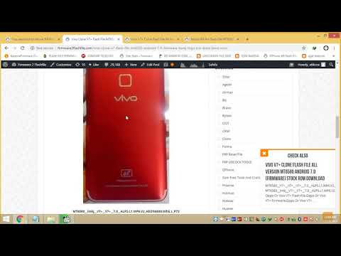 Vivo Clone V9 Flash File Lcd Fixed Firmware MT6580 Stock Rom Hang
