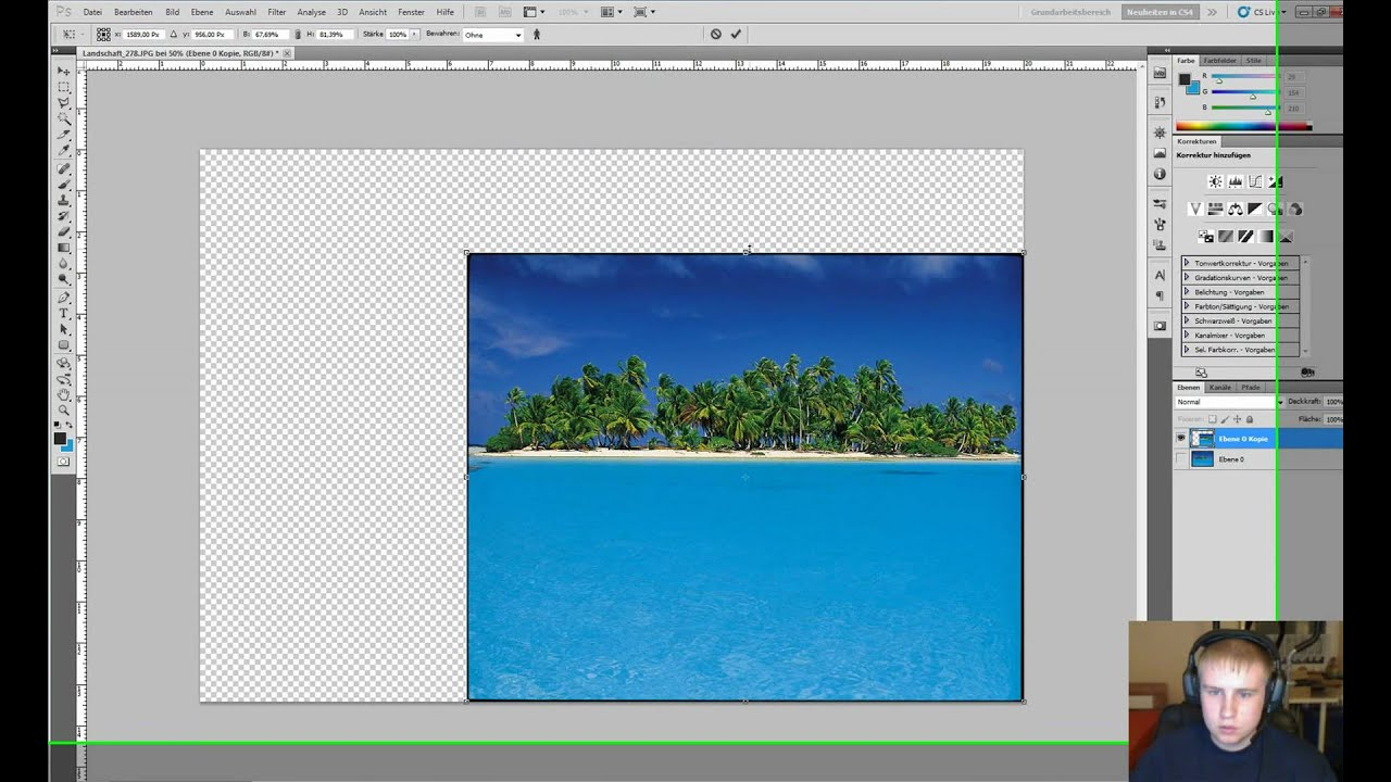 Photoshop CS5 Tutorial - Skalieren (Inhalt bewahren ...