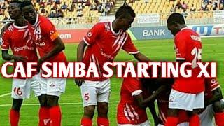 Kikosi cha Simba kinachoanza Leo Kombe la Shirikisho