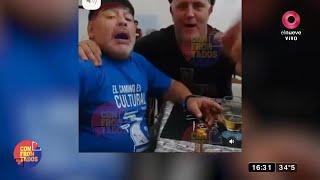 Escandaloso video de Maradona fumando un habano y tomando cerveza días antes de su operación