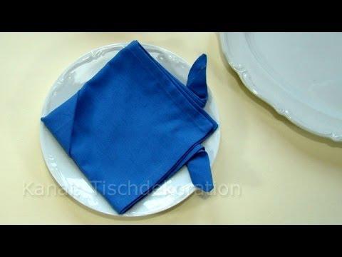 Servietten falten Ostern: Fisch als Tischdeko
