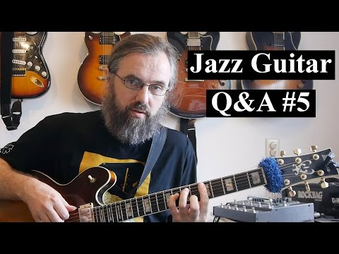 Jazz Guitar Q&A #5 - Slash chord inversions, Long 8th note lines, Transcribing, writers block