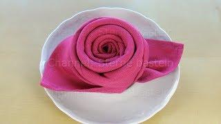 Servietten falten: Rose - Einfache Tischdeko schnell selber machen: z.B. Hochzeit, Muttertag