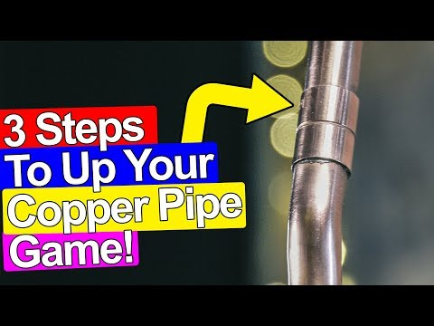 3 STEPS TO PRO CLEAN COPPER PIPES IN PLUMBING