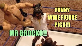 Funny WWE FIGURE Pics Review! Mattel, Jakks and Hasbro Wrestling Figures in HILARIOUS poses!