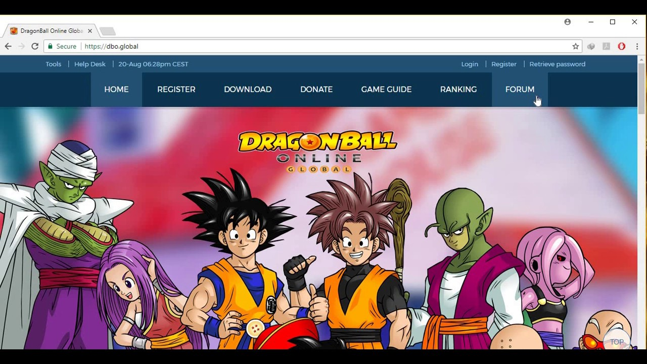 dragon ball online forums