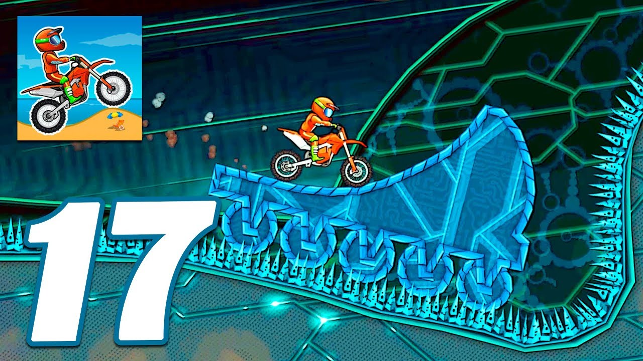 Moto X3m Bike Race Game Cyber World All Levels Gameplay