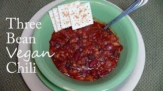 Chipotle Three Bean Chili - Vegan Recipe