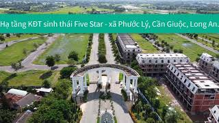 Hạ tầng dự án Five Star Eco City tại Long An vào tháng 8 2020