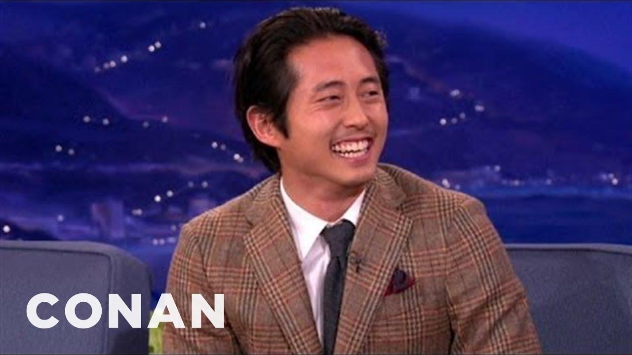 Steven Yeun Is Ashamed Of His Tiny Nipples | CONAN on TBS