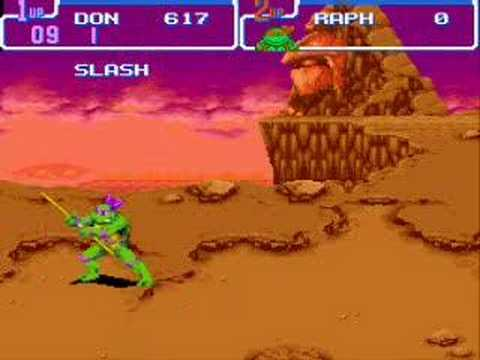 TMNT IV turtles in time SNES all bosses defeated IN HARD