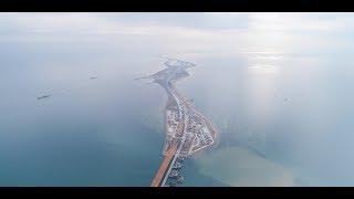 КРЫМСКИЙ МОСТ.Строительство моста сегодня 17.11.17. Надвижка пролётов. Керченский мост онлайн.