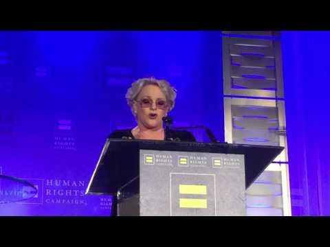Windy City Times: Sharon Gless at HRC San Antonio gala Nov. 5, 2016