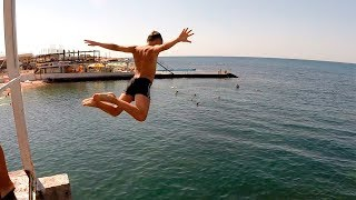 GoPro: Jumping into the sea | Defqwop - Awakening | Севастополь. Парк Победы