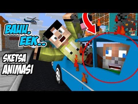 Lucu! Erpan Bawa Anto Ke kota,Mobil Nya bau Eek Sapi ( Part 1 ) - Minecraft Animation Indonesia