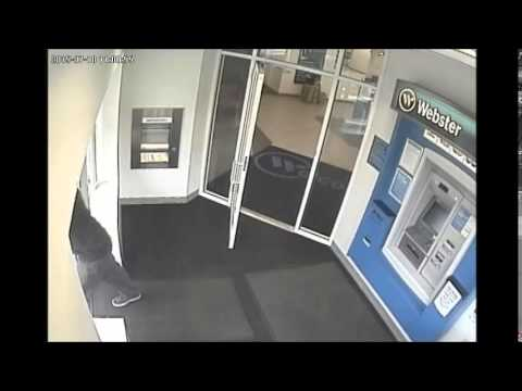 Video surveillance of Saturday's suspect in the Scarsdale bank robbery.
