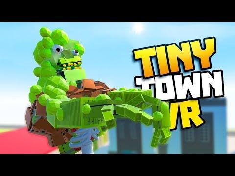 Giant Robot Spider Attacks City Tiny Town Vr Gamepla