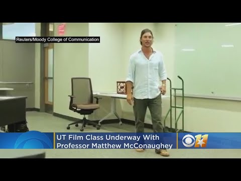 Hands Go Up As Professor McConaughey Heads His Class At UT Austin