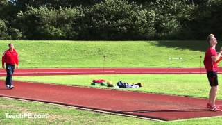 Javelin Coaching - run up part 1