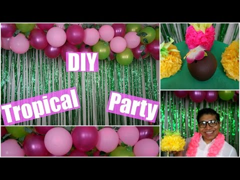 DIY Summer Tropical Party & Drinks!