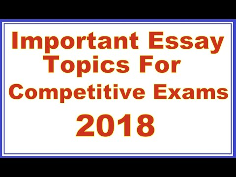 High School Essays Examples Important Essay Topics  Topics For Essays In English also Thesis For Persuasive Essay Important Essay Topics For Competitive Exams   Youtube Science In Daily Life Essay