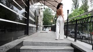 Свадебный комбинезон из натурального шелка