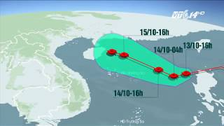 VTC14 | Bão số 11 sẽ gây mưa tại Bắc bộ và Bắc Trung bộ từ đêm 15/10
