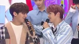 [SEVENTEEN] Mingyu being flustered when Wanna One