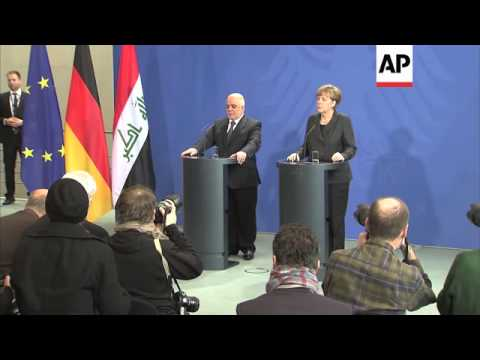Iraq PM comments after talks with Merkel