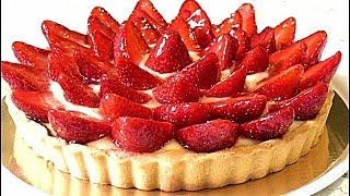 ТАРТ с заварным кремом и клубникой/Tart with custard and strawberries