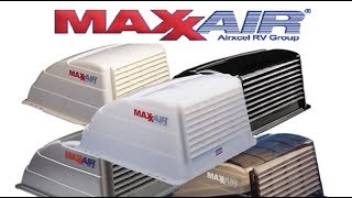 MaxxAir vent cover install DIY for RV's And Motorhomes