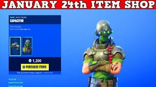 Fortnite Item Shop (January 24th) | *NEW* TECH OPS SKINS + ARMATURE & COAXIAL COPTER!