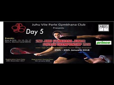 GU13-S Akshaya Sri vs  Tiana Parasrampuria I 2nd Juhu Gymkhana Junior Squash C'Ship 2018